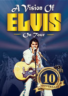 A Vision of Elvis transports the audience on a musical journey from Sun Studios,The Movie Years,'68 Comeback' and a breathtaking Concert Years finale, an experience you will never forget.
