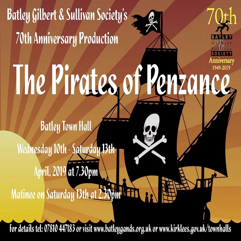 Batley Town Hall - Wednesday 10th April to Saturday 13th April 2019 - Evening performance @ 7.30pm with Saturday Matinee @ 2.3pm